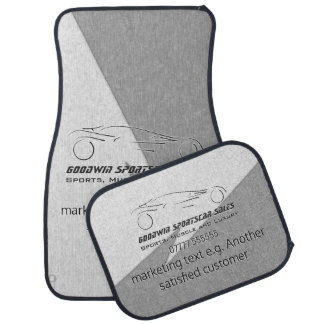 Sportscar Sales - metal, silver auto Showroom Floor Mat