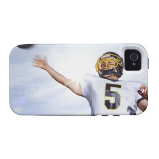 sportsman playing with rugby ball iPhone 4 case