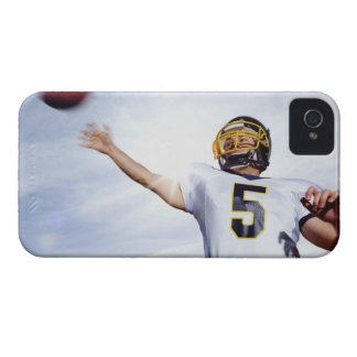 sportsman playing with rugby ball iPhone 4 cover