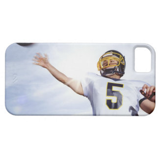 sportsman playing with rugby ball iPhone 5 case