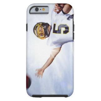 sportsman playing with rugby ball tough iPhone 6 case