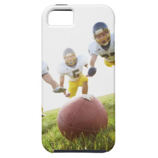 sportsmen playing with a rugby ball case for the iPhone 5
