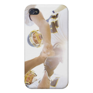 sportsmen standing with hands together covers for iPhone 4