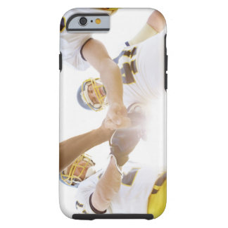 sportsmen standing with hands together tough iPhone 6 case