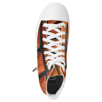 Sporty Basketball High Tops Printed Shoes