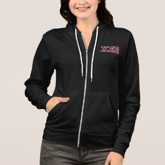 Sporty Black Jacket with Maroon Letters