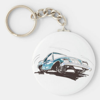 Sporty Blue Car Key Chain