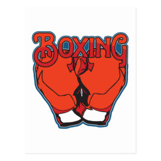 Sporty Boxing Postcards