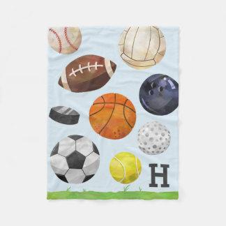 Sporty Cluster Monogram Fleece Blanket