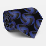 Sporty Dark Blue and Black Volleyball Tie