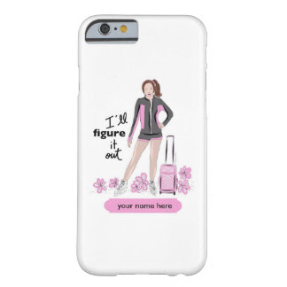 Sporty Figure Skater with Skating Bag Barely There iPhone 6 Case