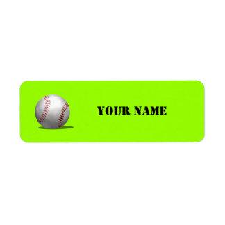 Sporty Green Baseball School Book
