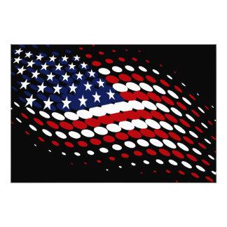 Sporty Halftone USA American Flag Photographic Print
