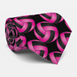 Sporty Hot Pink Volleyball Tie
