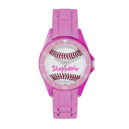 Sporty Ladies Personalized Baseball Watch