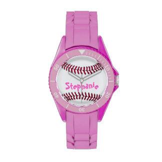 Sporty Ladies Personalized Baseball Watch