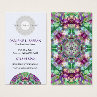 "Sporty ""Lilac Dreams"" Mandala Kaleidoscope Business Card"