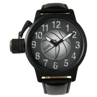 Sporty Personalized Basketball Watches for Guys