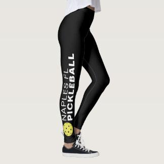 Sporty Pickleball Custom Town Team Name Black Leggings