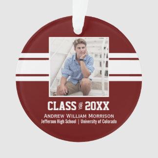 Sporty Prep Graduation Photo Class of 20XX