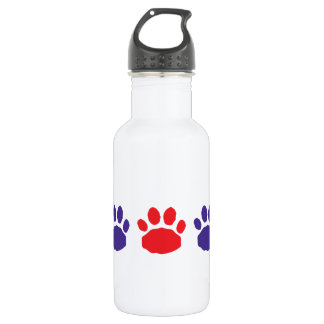 Sporty Red and Blue Animal Paw Prints 532 Ml Water Bottle