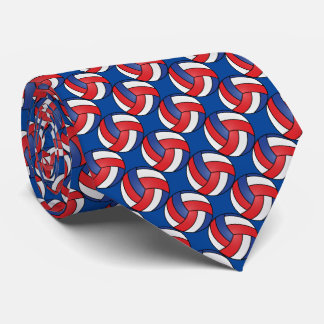 Sporty Red, White and Blue Volleyball Tie