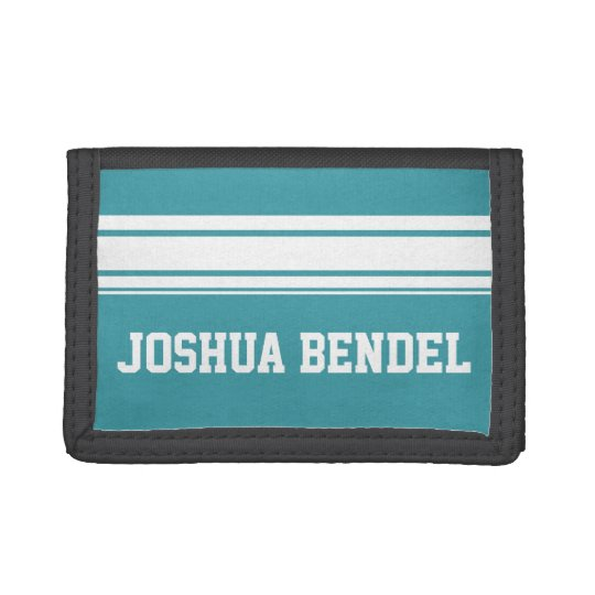 Sporty Stripes Personalised Kids Boys Wallet