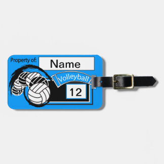 Sporty Volleyball   DIY Background Color Bag Tag