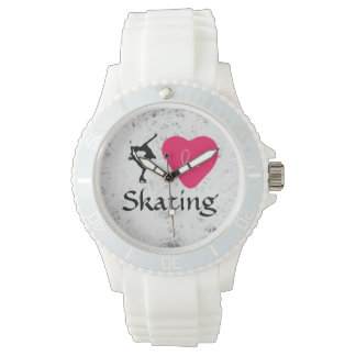 "Sporty White ""figure skating"" Girls Watch"