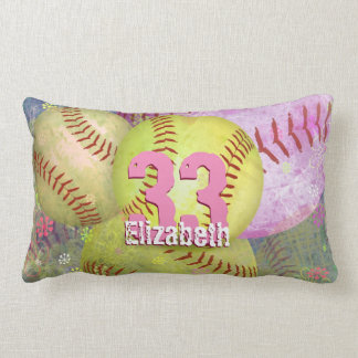 Sporty Women's Softball Lumbar Cushion