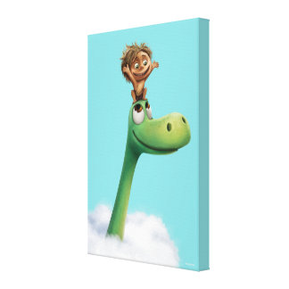 Spot And Arlo Head In Clouds Canvas Print