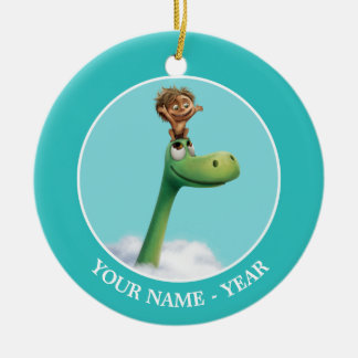 Spot And Arlo Head In Clouds Christmas Ornament