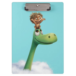 Spot And Arlo Head In Clouds Clipboard