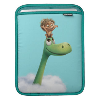 Spot And Arlo Head In Clouds iPad Sleeve