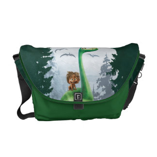 Spot And Arlo In Forest Messenger Bags