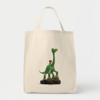Spot And Arlo On Rock Tote Bag