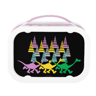 Spot and Arlo Purple Yellow Green Trees Lunch Box