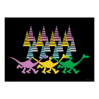 Spot and Arlo Purple Yellow Green Trees Poster