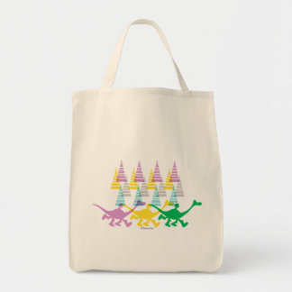 Spot and Arlo Purple Yellow Green Trees Tote Bag
