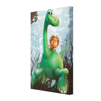 Spot And Arlo Walking Through Forest Canvas Print