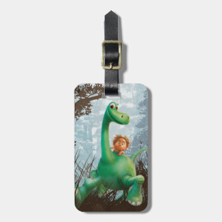 Spot And Arlo Walking Through Forest Luggage Tag