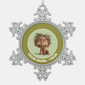 Spot Drawing Snowflake Pewter Christmas Ornament