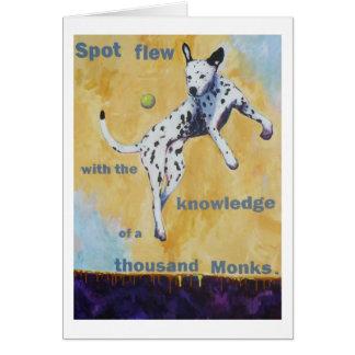 Spot Flew Greeting Card
