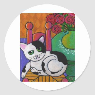 Spot The Cat Classic Round Sticker