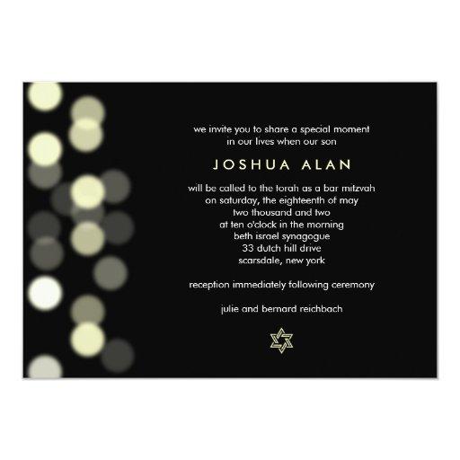 Spotlight Bar/Bat Mitzvah Invitation