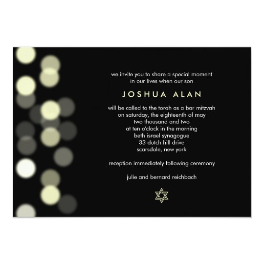 Spotlight Bar/Bat Mitzvah Invitation
