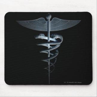 Spotlight on a medical caduceus mouse pad