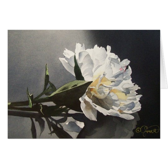 Spotlight Peony Greeting Card