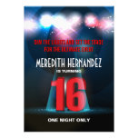 Spotlight Star Red Sweet 16 Personalised Announcements