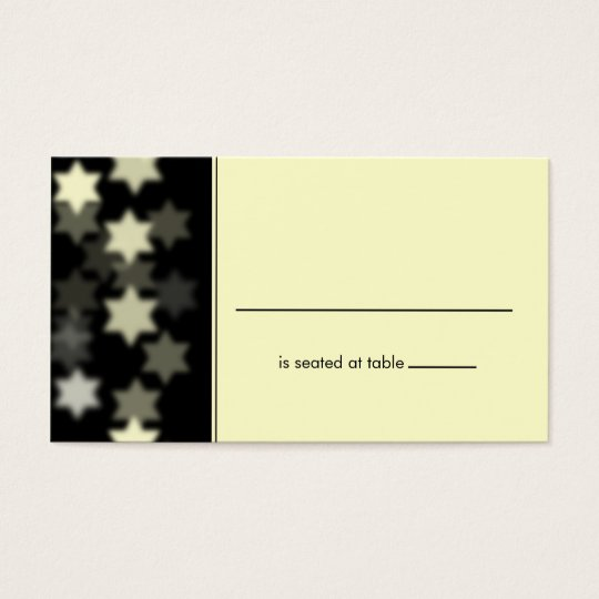 Spotlights Star of David Placecard Business Card